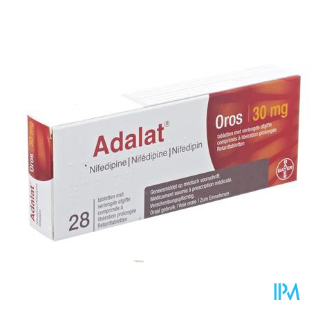 Adalat Oros Pi Pharma Comp 28 X 30mg Pip