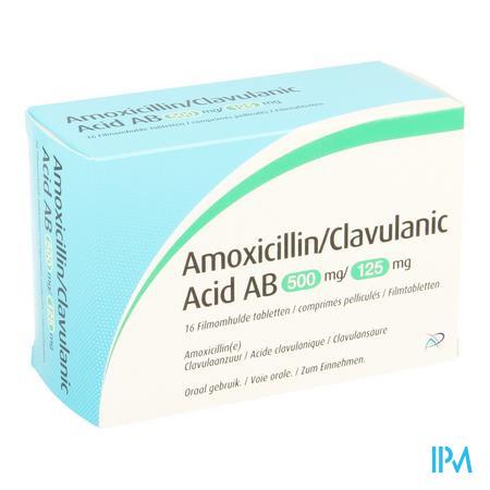 Amoxicillin Clavulanic Acid Ab 500mg/125mg Comp 16