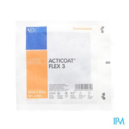 Acticoat Flex 3 Verband Individueel Steriel 10cm x 10cm 1 stuk
