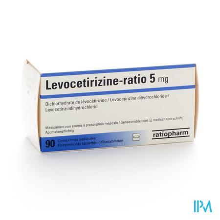 Ratiopharm Levocetirizine 5mg 90 comprimés