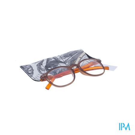 Pharmaglasses Leesbril Comp. +3.00 Brown/orange