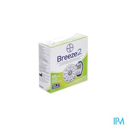 Bayer Breeze Glucoseteststrips 50 stuks