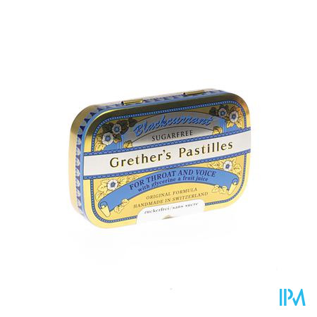 Blackcurrant Grethers Zonder Suiker Drag 60g