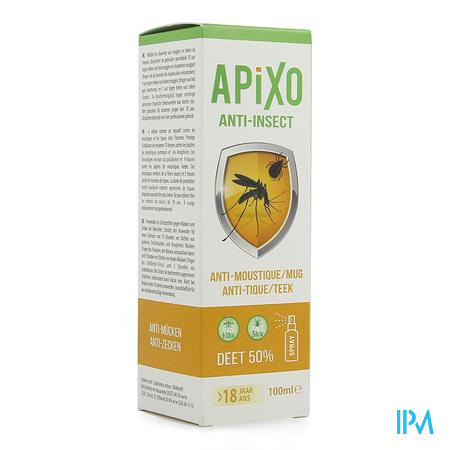 Apixo A/insect Deet 50% Spray 100ml