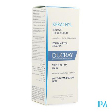 Afbeelding * Ducray Keracnyl Masker met Drievoudige Werking voor Gemengde tot Vette Huid 40 ml.