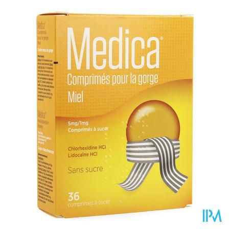 Medica Keeltabletten Honing Zuigtabl 36