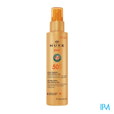 Afbeelding Nuxe Sun Smeltzachte Zonnespray met SPF 50 voor Gelaat en Lichaam 150 ml.
