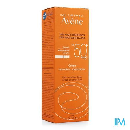 Afbeelding Avène Zonnecrème met SPF 50+ zonder Parfum voor Droge Gevoelige Huid Tube 50 ml.