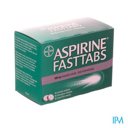 Afbeelding Aspirine Fasttabs 500 mg 40 tabl.