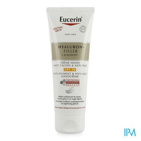 Afbeelding Eucerin Hyaluronfiller + Elasticity Anti-Pigment en Anti-Age Handcrème met SPF 30 voor Zichtbare Vermindering van Ouderdomsvlekken bij Regelmatig gebruik Tube 75 ml .
