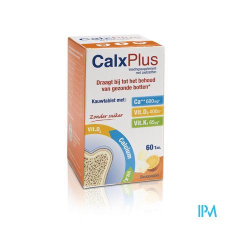 Afbeelding Calx Plus Sinaasappel 60 Kauwtabletten.