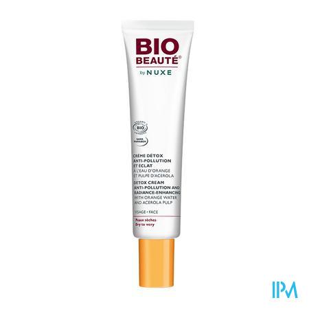 Afbeelding Nuxe Bio Beauté Detoxcrème Anti-Vervuiling en Stralende Teint voor Droge Huid Tube 40 ml.