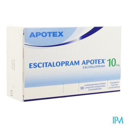 Escitalopram Apotex 10mg Comp Orodisp 98 X 10mg