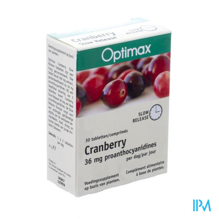 Optimax Cranberry One A Day 30 tabletten