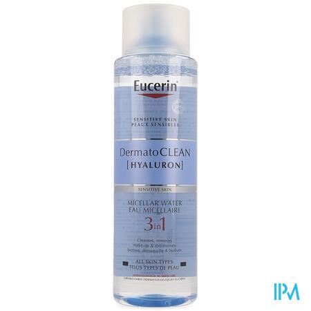 Afbeelding Eucerin DermatoCLEAN Hyaluron Gevoelige Huid 3-in-1 Micellair Water voor Alle Huidtypes Flacon 400 ml.