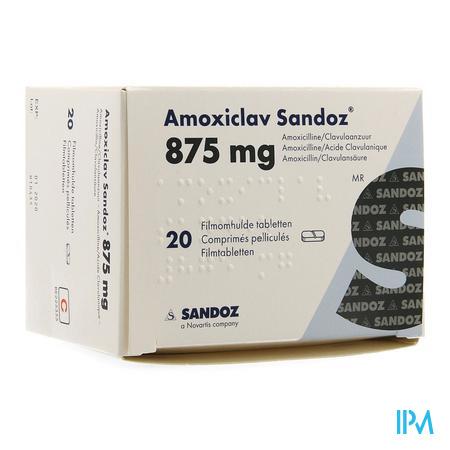 Amoxiclav Sandoz 875mg/125mg Comp 20