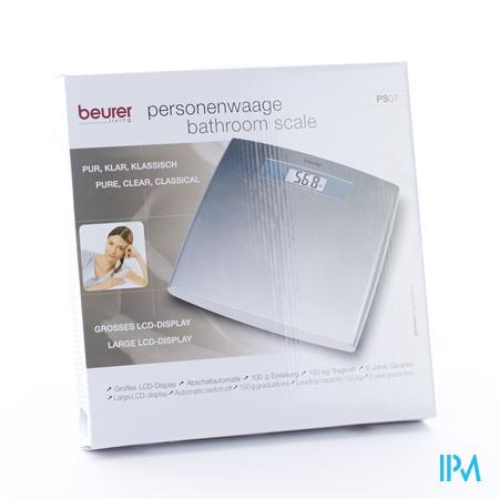 Beurer Weegschaal Digitaal 140Kg/200G Zilver Ps07S 1 stuk