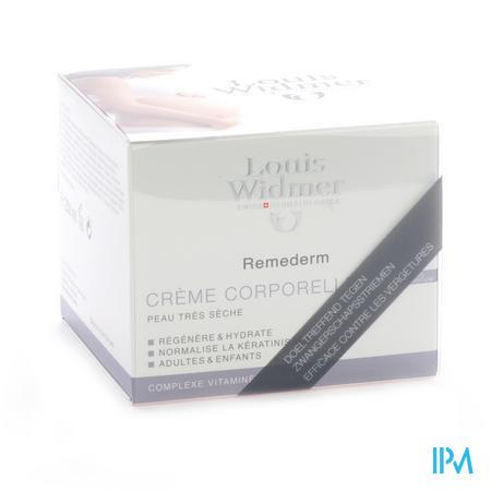 Louis Widmer Remederm Crème Corporelle (Sans parfum) 250 ml + CADEAU 1 flacon Remederm Crème Visage (10 ml)