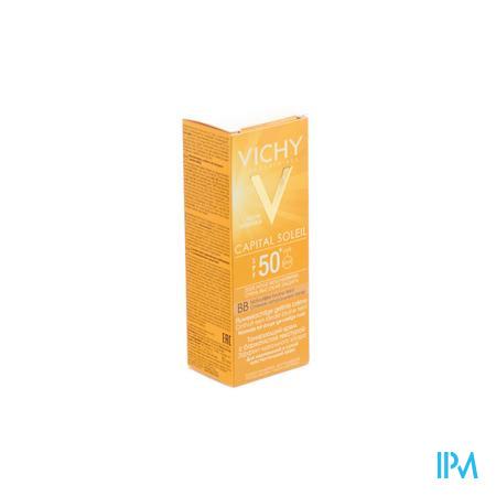 Afbeelding Vichy Ideal Soleil BB Getinte Zonnecrème met SPF 50+ voor Normale tot Droge Huid 50 ml.