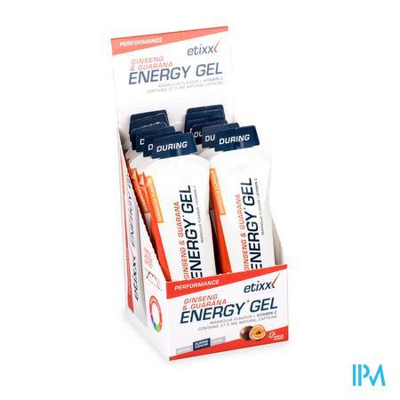Afbeelding Etixx Ginseng en Guarana Energy Gel met Maracujasmaak en Vitamine C 12 x 50 g.