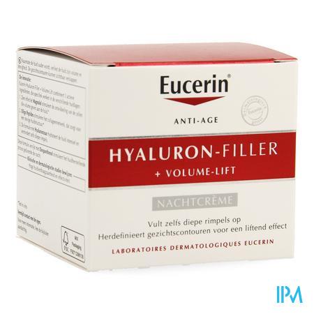 Afbeelding Eucerin Hyaluron-Filler + Volume-Lift Herdefiniërende, Liftende Anti-Rimpel Nachtcrème Pot 50 ml.