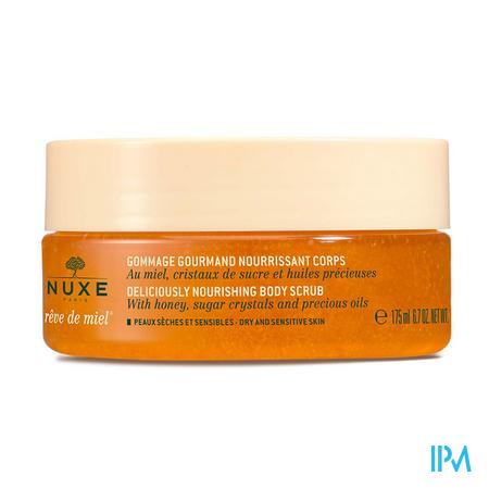 Afbeelding Nuxe Rêve de Miel Heerlijke Voedende Lichaamsscrub met Honing voor Droge en Gevoelige Huid Pot 175 ml.