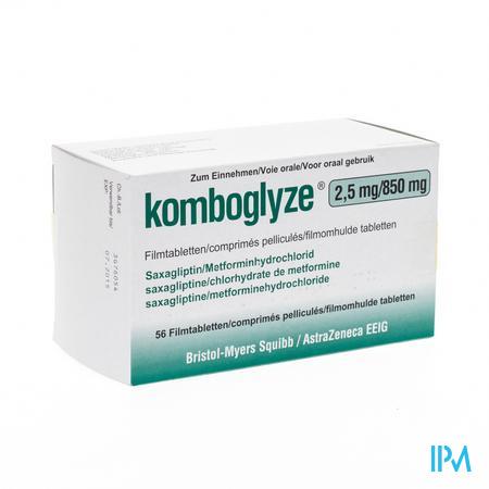 Komboglyze 2,5mg/850mg Filmomh Tabl 56
