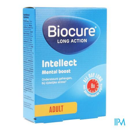 Afbeelding Biocure Long Action Intellect Mental Boost voor Ondersteuning van Geheugen bij Tijdelijke Stress voor Volwassenen 30 Tabletten.