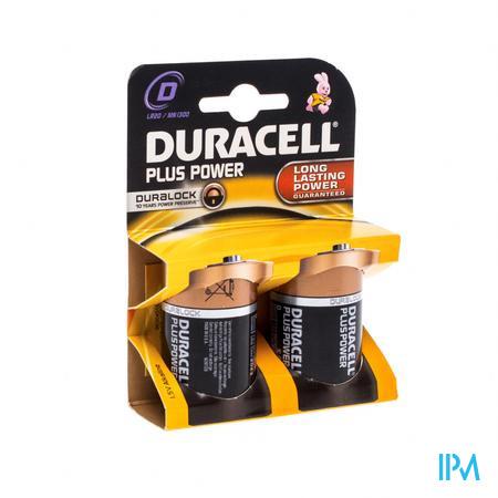 Duracell Batterij Plus lr20/mn1300 10603 2 stuks