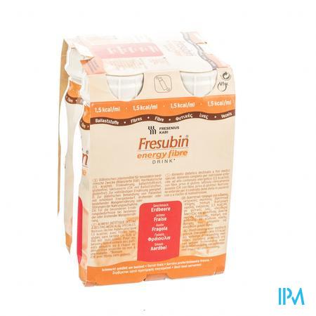 Fresubin Energy Fibre Drink Fraise Flacon 4x200 ml