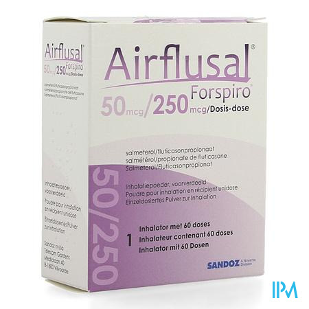 Airflusal Forspiro 50mcg/250mcg Pdr Inh. 1x60 Dose
