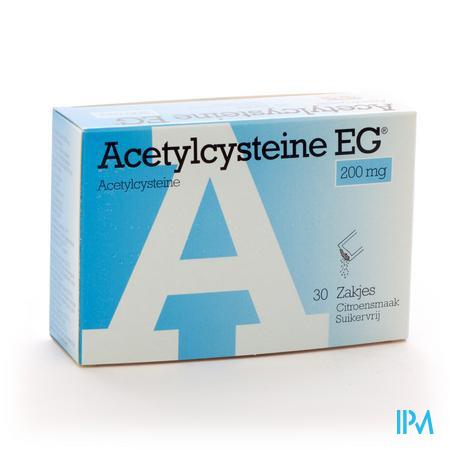 Afbeelding Acetylcysteïne EG 200 mg 30 Zakjes.