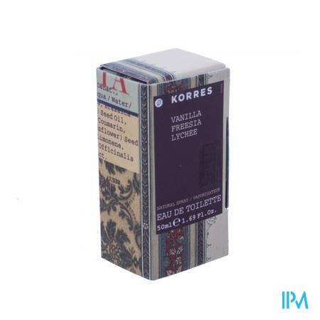 Afbeelding Korres Eau de Toilette voor Vrouwen met Vanille, Freesia en Lychee Spray 50 ml.
