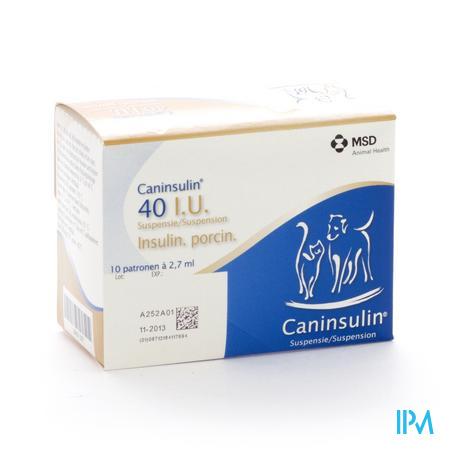 Caninsulin Susp Inj Cartouche 10x2,7ml