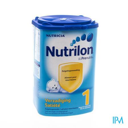 Farmawebshop - NUTRILON 1 VERZADIGING ZUIGEL.MELK NF PDR PACK800G