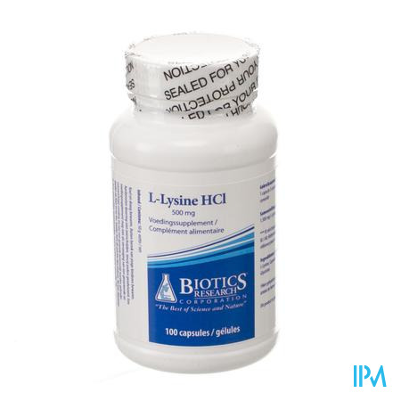 l-lysine Biotics Caps 100x500mg
