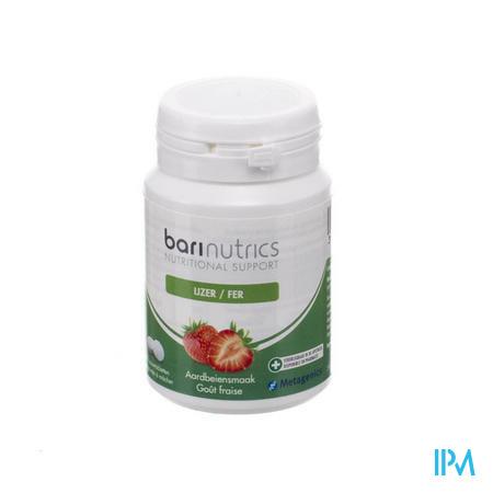 Afbeelding Barinutrics Ijzer 90 Kauwtabletten met Aardbeiensmaak.