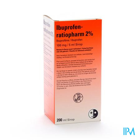 Ibuprofen Ratiopharm 2% 200 ml sirop