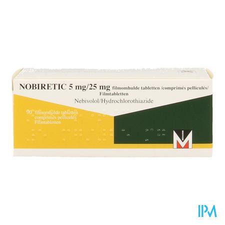 Nobiretic 5 mg/25,0 mg Comprimés 90
