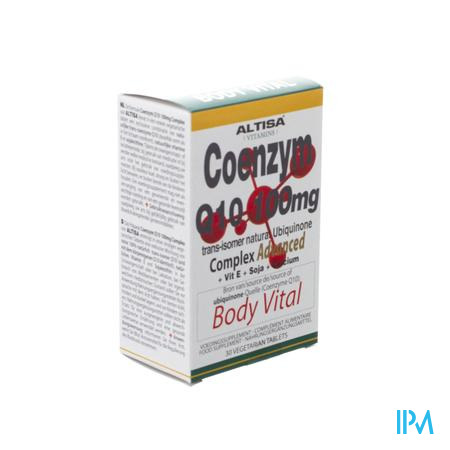 Altisa Coenzym Q10 100mg+e+ca+lecithine Tabl 30