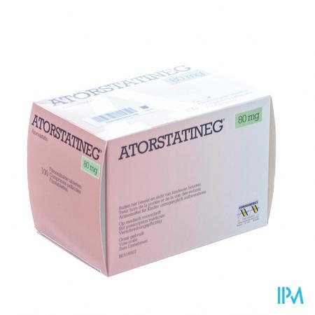 Atorstatineg 80 mg Filmomhulde Tabletten 100