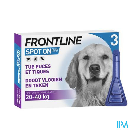 Frontline Spot On Hond 20-40kg Pipet 3x2,68ml