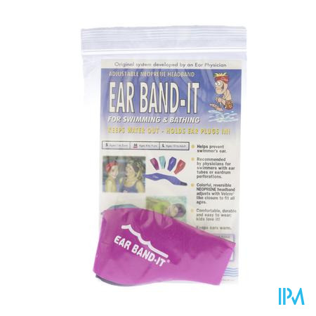 Ear Band-It Zwemmen Neopreen Medium 1 stuk