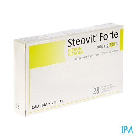 Steovit Forte 1000 mg/800IEKauwtabletten 28