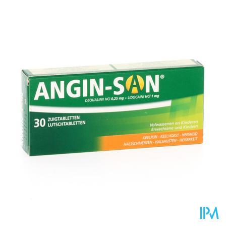 Afbeelding Angin San 30 zuigtabletten.