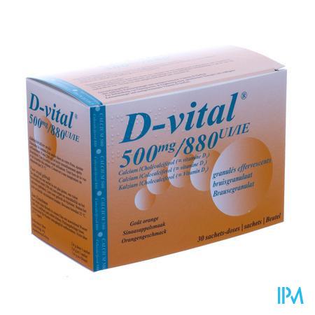 D-vital 500/880 Bruis Zakje 30
