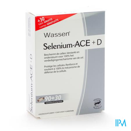 Farmawebshop - SELENIUM ACE+ D 90 tabletten + 30 tabl gratis