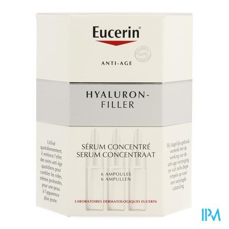 Afbeelding Eucerin Hyaluron Filler Intensief Antirimpel concentraat 6 x 5ml.