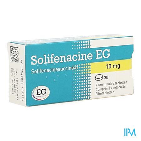 Solifenacine Eg 10mg Filmomh Tabl 30 X 10mg