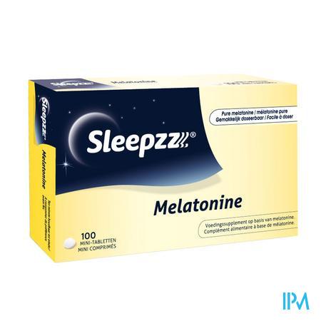 Afbeelding Sleepzz Melatonine 100 Mini-Tabletten.